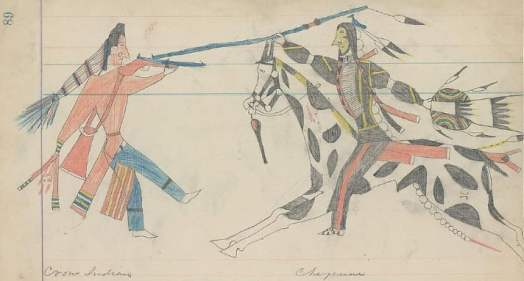 Crow Cheyenne fight