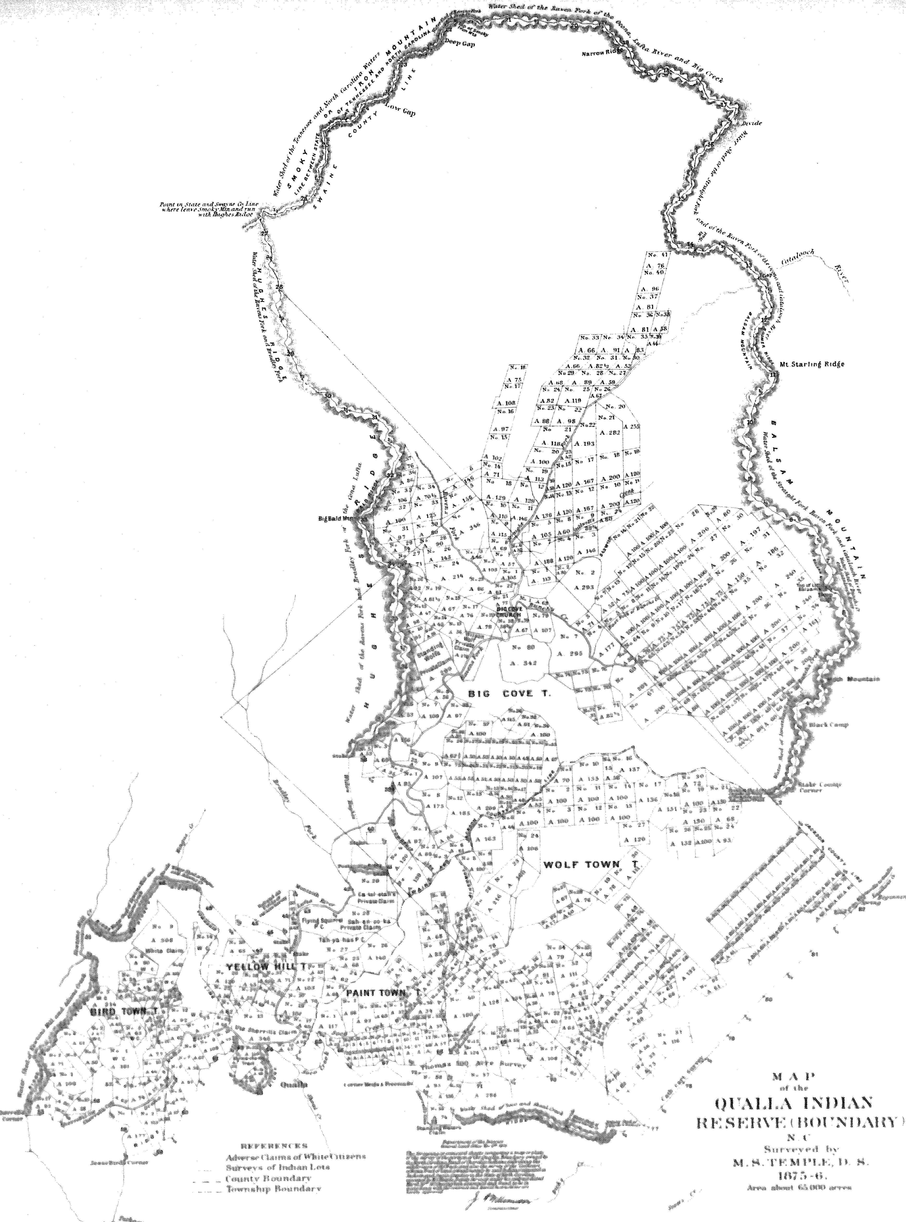 Qualla Reservation Map