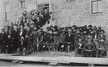 Pueblo tribal members visiting