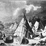 """Encampment among the Islands  of Lake Huron."" Paul Kane, 1845."