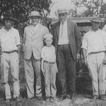 "Frank Boykin and John Everett, on either side of the young Joseph ""Muff"" Ryans, photographed in the 1920s with (left to right) W. H. Ryans Jr., James ""Jimbo"" Patrick, Rob Boykin, and W. H. Ryans Sr. (Courtesy of MOWA Choctaw Cultural Center)"