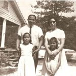 Mississippi Choctaw Phillip Martin and his wife Bonnie with two kids