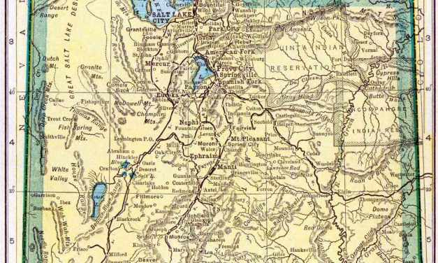 1910 Utah Census Map