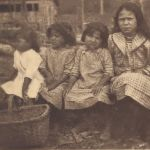Chickahominy children, with native splint basket.