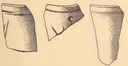 Fragments of Pamunkey pipes.