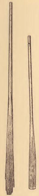 Pamunkey canoe paddles