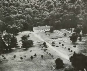 Aerial view of Fort de Chartres State Park. Randolph County, Illinois