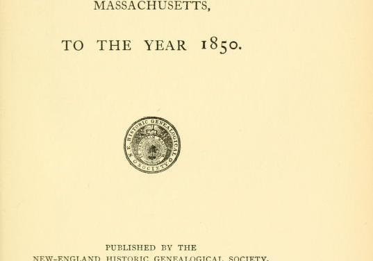 Free Massachusetts Town Vital Records