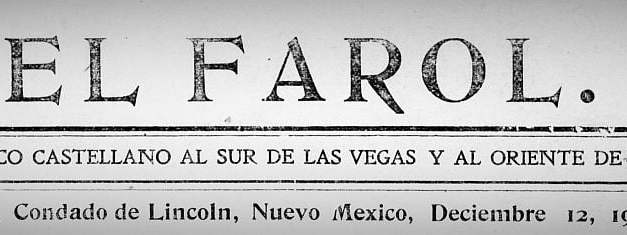 Index to Articles found in the El Farol Newspaper 1905-1906