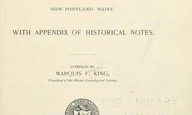 Records of First Church in Falmouth Maine