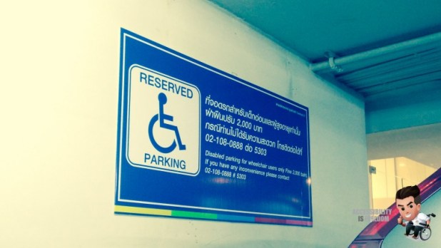 Accessibility Is Freedom - Disabled Car Parking - Terminal 21-20160422194419