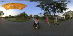 ภาพ 360 ซาบะกำลังวิ่งในสวนหลวง ร 9