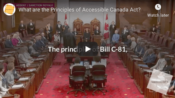 The Principles of the Accessible Canada Act?