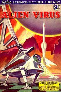 scifi novel cover about an Alien Virus