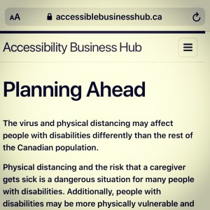 Planning ahead image from website accessiblebusinesshub.ca screenshot