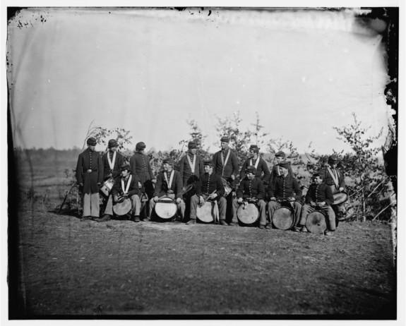 Drum Corps, 93rd New York Infantry - Bealeton, VA, August 1863