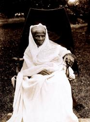 Harriet Tubman at her home in Auburn, New York (1911)