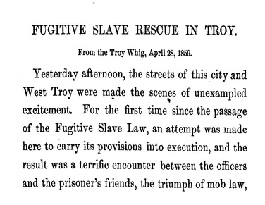 essay on the fugitive slave law Ralph waldo emerson, address on the fugitive slave law (may 3, 1851) an immoral law makes it a man's duty to break it, at every hazard: for virtue is the very self of every man.
