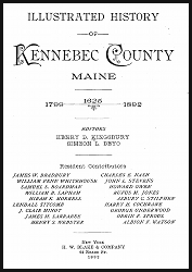 Illustrated History of Kennebec County Maine