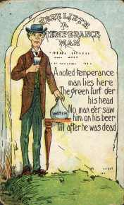 Here Lieth a Temperance Man