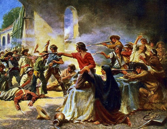Battle of the Alamo by Percy Moran