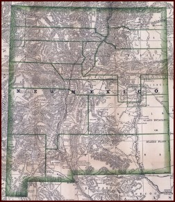 Map of New Mexico 1879