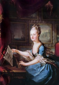 Marie Antoinette playing the spinet, 1769