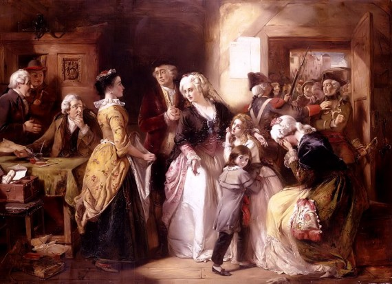 The arrest of Louis XVI and his family at the house of the registrar of passports, at Varennes in June, 1791