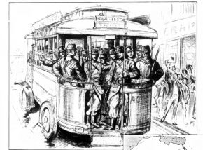 """""""Going to the Front in Motor Buses"""" - Frank Leslie's Weekly, September 10, 1914"""