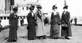 Some of the anti-suffrage leaders who took 1200 people up the Hudson for their Decoration Day picnic