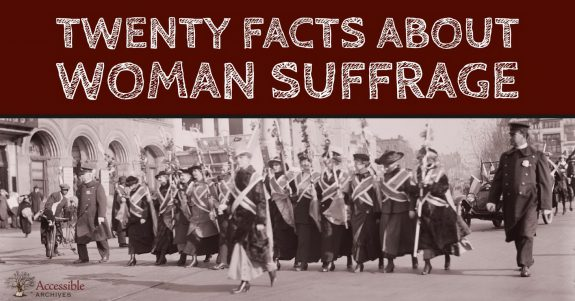 20 Facts Suffrage