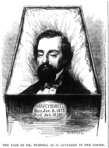 Dr. Burdell as he appeared in his casket