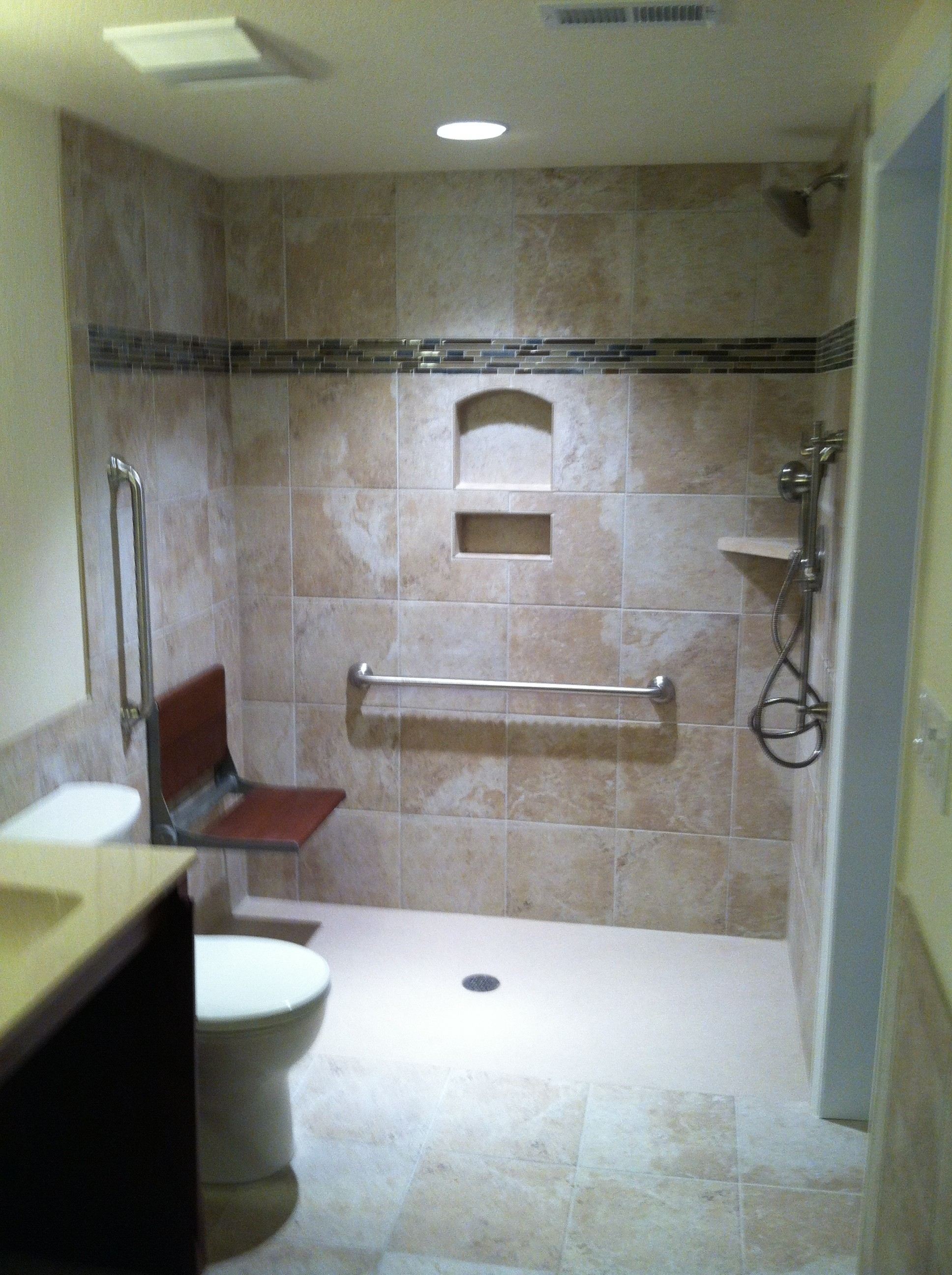 Euro Style Shower With Folding Bath Bench Arvada Co