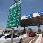 Toll road in Mexico