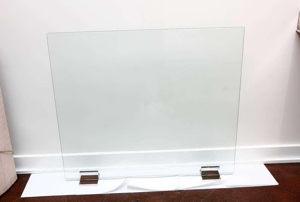 Contemporary Glass Fireplace Screens