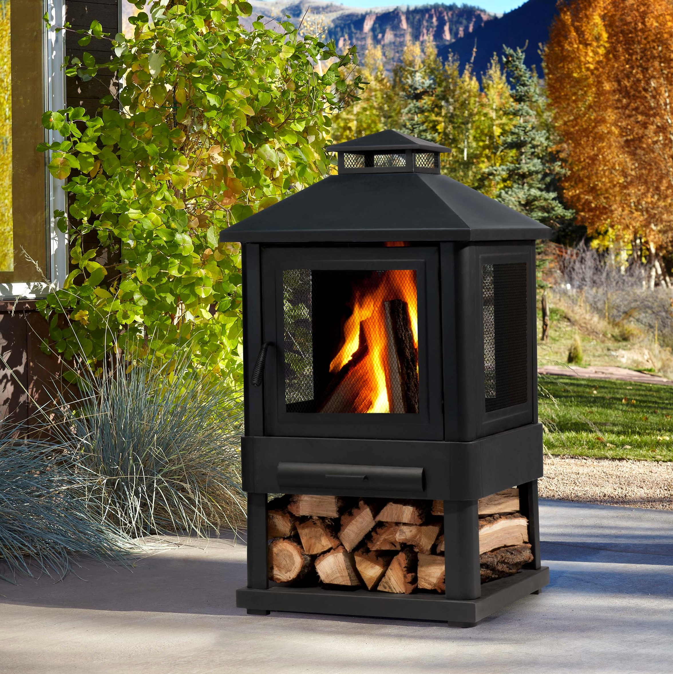 Portable Outdoor Wood Burning Fireplace Home Design Ideas