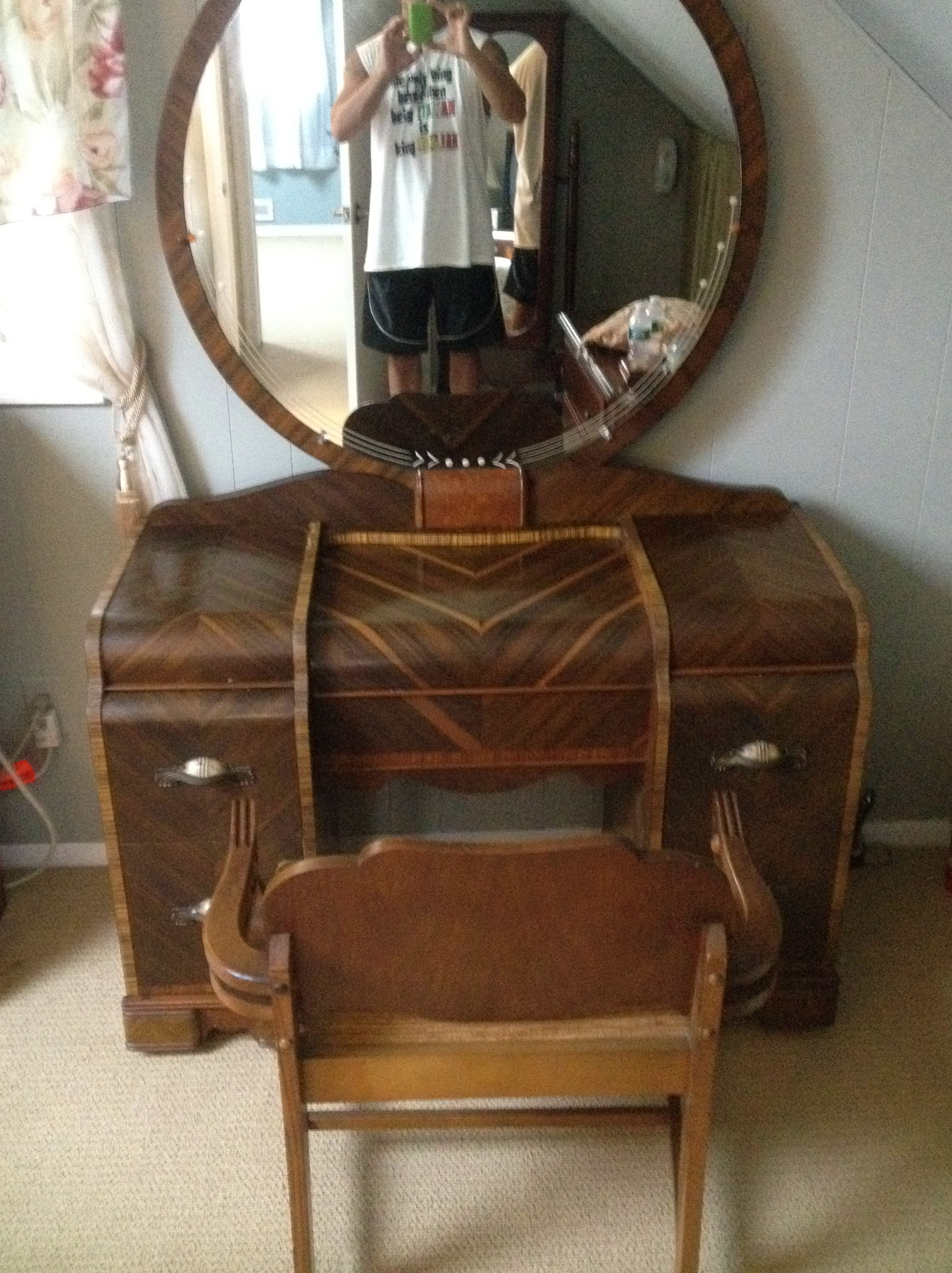 Antique Vanity With Mirror Value Home Design Ideas
