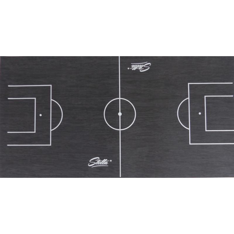 tapis gerflex noir trace pour baby foot stella 140 x 75 cm