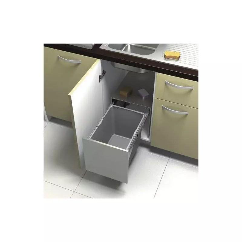 poubelle inox coulissante 34l sous evier accessoires de cuisines