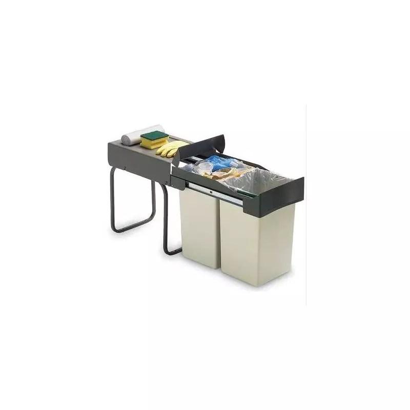 Poubelle Ouverture Automatique 1 Ou 2 Bacs Accessoires De Cuisines