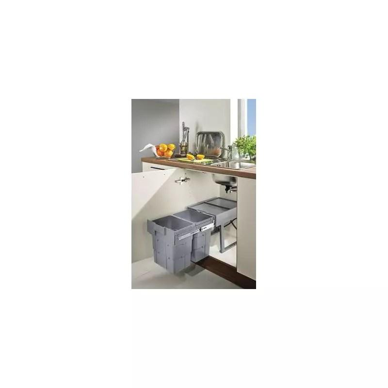 poubelle coulissante sous evier 2 ou 3 bacs accessoires de cuisines