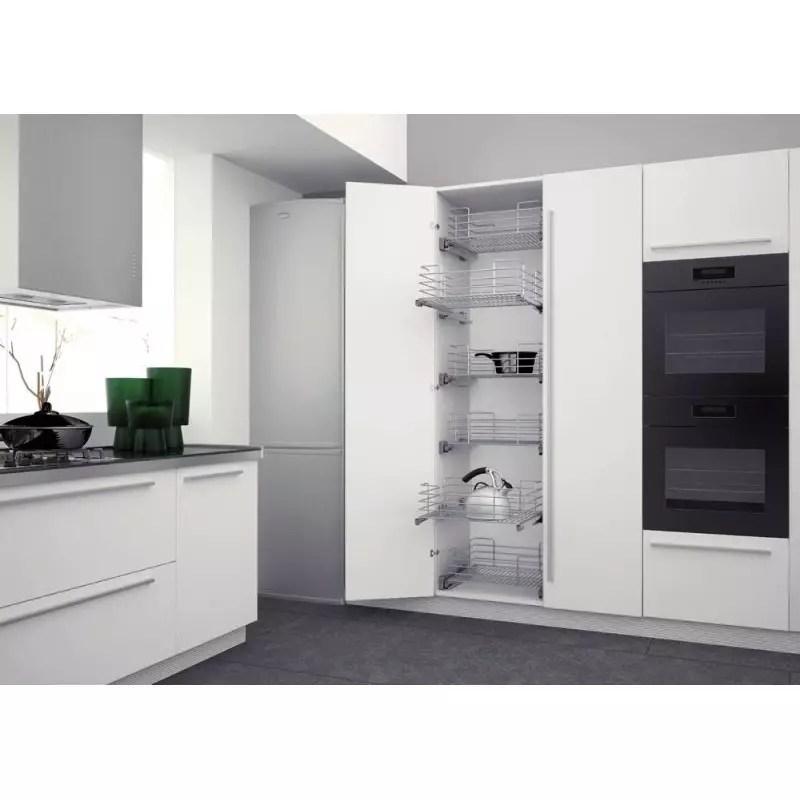 tiroir de rangement coulissant en fil chrome accessoires de cuisine