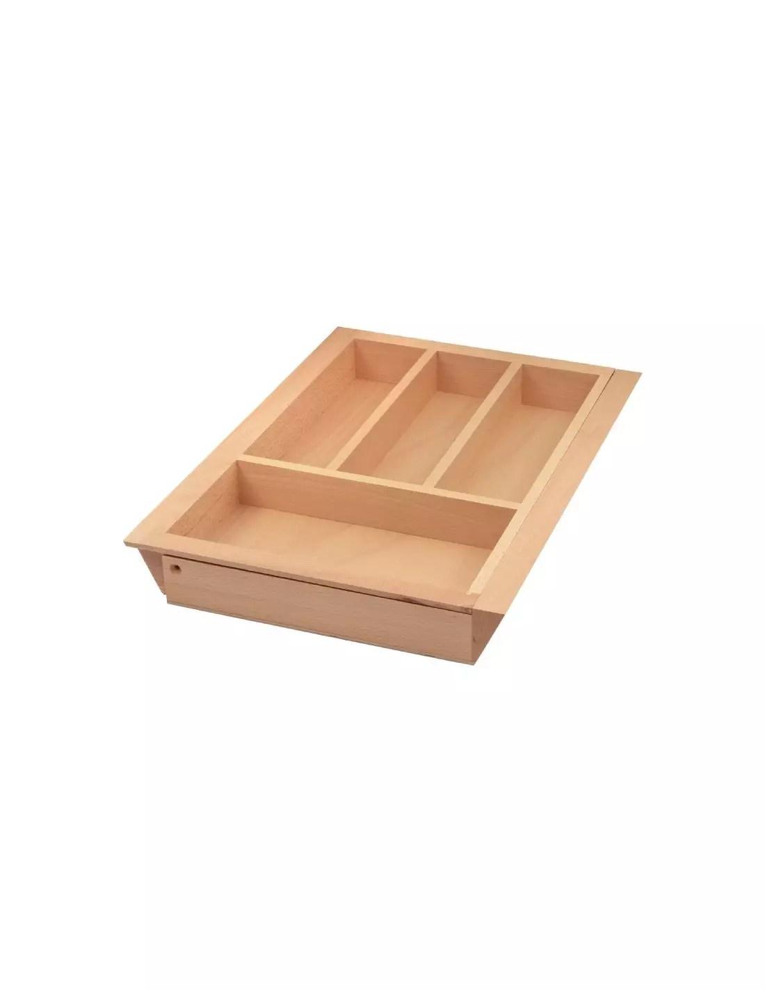 range couverts en bois extensible organisateur de tiroir de cuisine dimension 400 600mm