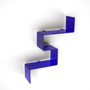 Elemento in plexiglass di design per il bagno