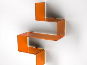 Mensola UP003 Arancione plexiglass