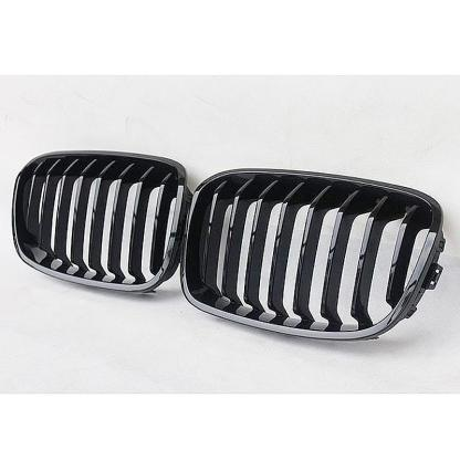 Gloss Black For 2012 - 2016 BMW 1-Series F20 F21 Front Kidney Grille Grill
