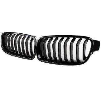 BMW 3 Series F30 F31 Gloss Black Kidney Euro Sport Front Hood Grill M Tech 12-