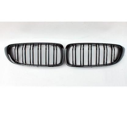 Gloss Black Kidney Grille Dual Slat For BMW F32 F33 F36 F82 2014+ M4 Sport PS