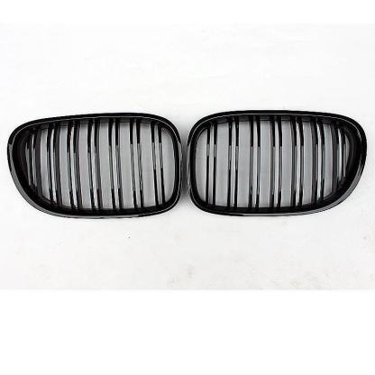 Gloss Black Dual Slat Front Grille For 2009-15 BMW F01 F02 740i 750i 760i Grill