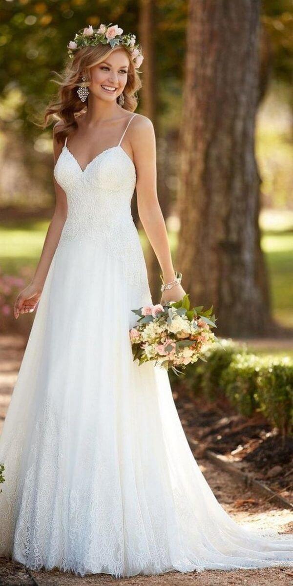 Vestidos de noiva Simples Longo